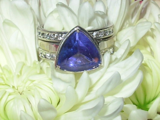 Tanzanite Engagement Ring by H.A.R. Jewelry