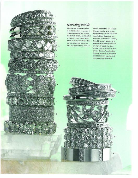 Intricately designed wedding bands