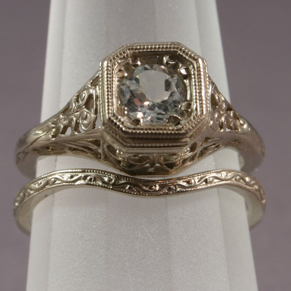 Lovely Vintage Engagement Ring Sets