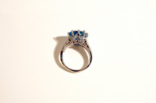 Blue Topaz and Diamond Ring - H.A.R. Jewelry