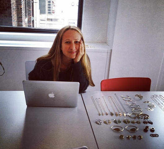 jenmeyerjewelryFashion show prep day @cfda offices xo
