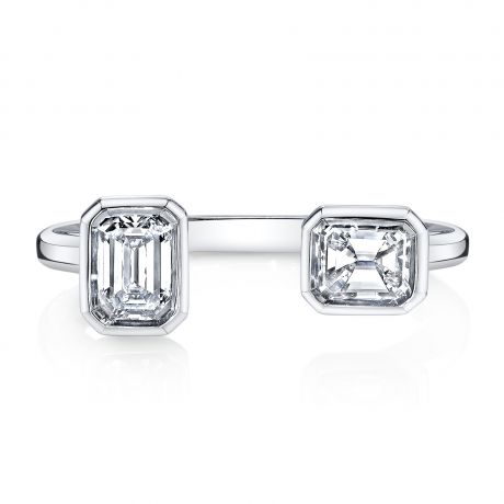 ReframedDouble Emerald Cut Ring, $7,500.
