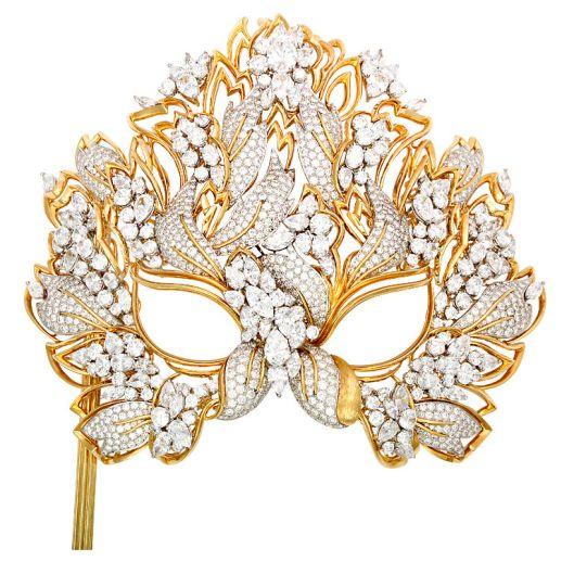 """The Elizabeth Taylor Diamond """"Lachrymosa"""" Mask for amfAR 1993$3,000,000"""