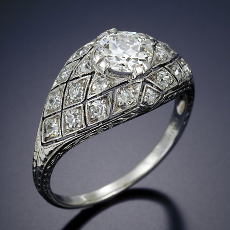 Antique Diamond Engagement Ring from Antoinette Antique and Estate Jewelry.  A must see if you are ever in Portland, Oregon!!