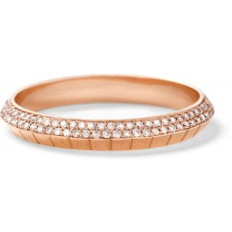 Ascent band with white diamond pavé, 18K recycled rose gold, 0.40 TCW, $4,995