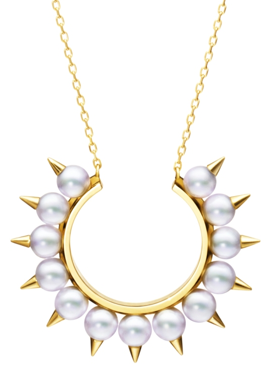 Tasaki Collection by Thakoon Danger freshwater pearl and yellow gold necklace, $2,400; at Jeffrey New York, (212) 206-1272.